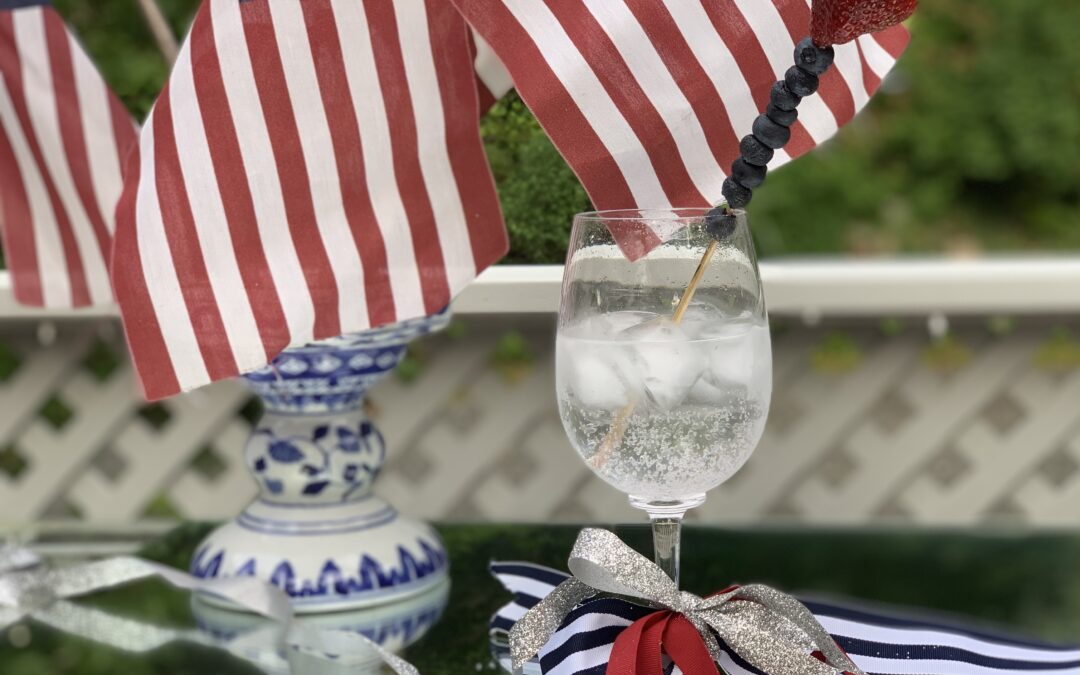 For Flag Day, A Red, White and Blue Berry Sparkler!